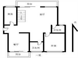 瑞景公园 客厅6米调空 顶楼楼中楼 客厅7宽送100平大露台