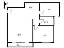 锦绣祥安2居 新华都旁 价格132万 小两房 精装修 中间层