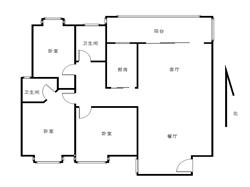 豪华自住精装修三房 高楼层 三面采光 赠送大阳台 舒适温馨