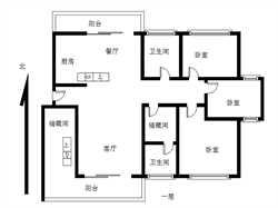 瑞景公园楼王 6房  中楼层 精装 小区中庭 双阳台 使用大