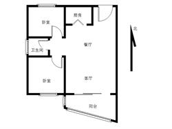 软件园吕岭路 朝南精致小两房,全明无遮挡,客厅带超大阳台