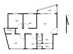 瑞景 嘉盛豪园 电梯高层正规大四房 小区中庭位置 户型方正