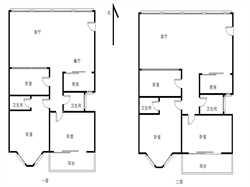 五缘湾经典B户型 户型方正 南北通透 楼中楼使用近260平