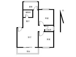 万寿路文园公寓 2房 南北通透 实验二小旁