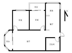 国贸新城 框架2房 双阳台 精装修 单价4.5万 中间楼层