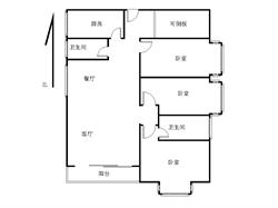 聚镇 毛坯3+1房 高层 位置安静 交通方便 有锁