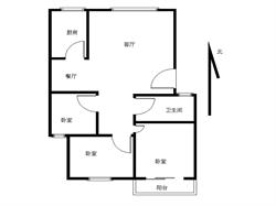 岭兜小区 小区中庭位置,性价比最高的三房