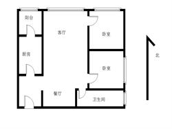 汇景新城中心三期 两房两厅 首付65万.满二