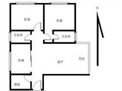 香江花园3居电梯满五