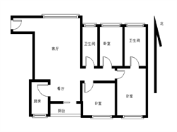 宝嘉誉园  精装三房 两厅一厨两卫 送家具 满二