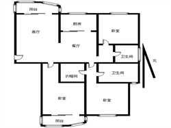 外国语学校 精装电梯3房  拎包入住 潘宅南小区全明格局