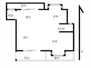 福海阳光2居电梯满五
