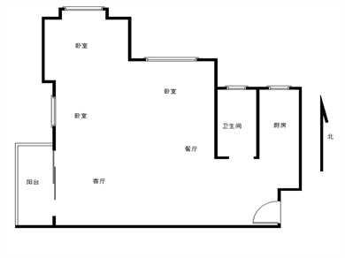 荣昌·东方广场3居电梯满五