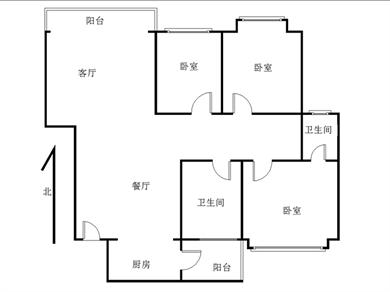 明发商业广场     三房两厅   东边套   中楼层