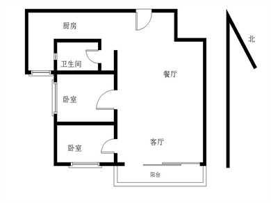 万达广场2居电梯满五