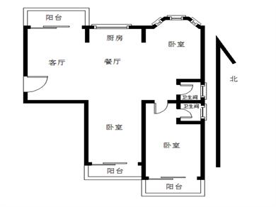 锦绣一方三房二厅三阳台