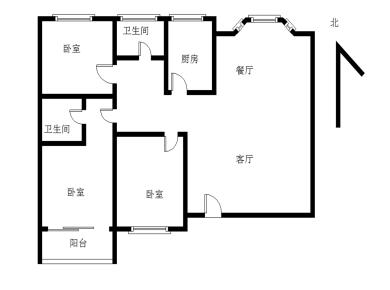 金山片区宏山新村中间楼层正规三房两厅两卫精装仅售410万
