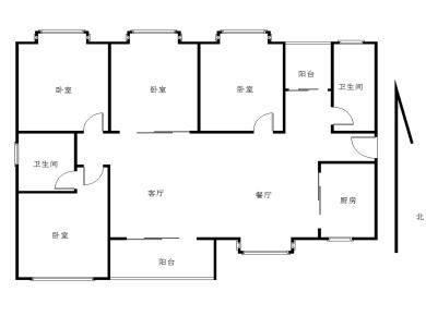 万科金域华府 中层通透4房 业主自住配置 采光充足