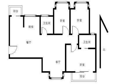 水岸名筑,自住高层,大3房