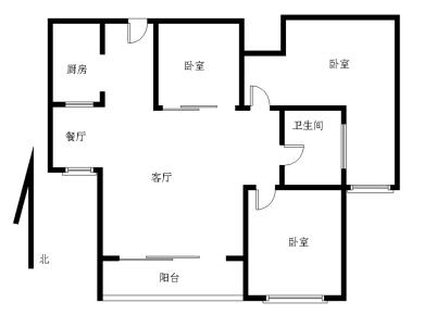 锦绣祥安 精装三房 产权满二 高层视野好 可看中庭