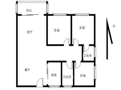 禾祥西 白鹭花园 电梯中层 单价4.9万 精装三房