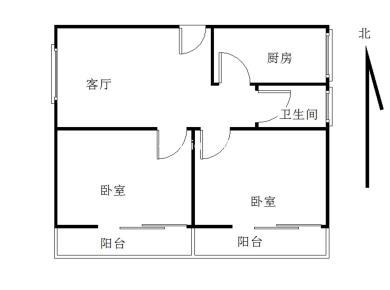 金山 宏山新村 中庭 2房 双阳台 朝南 采光好 满2