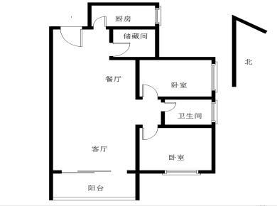 嘉盛豪园电梯高层二房 可改三房 精装修 满五年不靠路不靠高压
