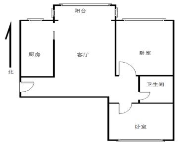 台湾街《嘉兴园》72.5平2房1厅1卫1阳台业主出售300万