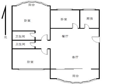 福津大街三节点142.8平3房2厅2卫2阳台仅售630万
