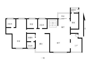 滨北五明珠国贸春天 南北通透 客厅挑空6.4米 使用560平