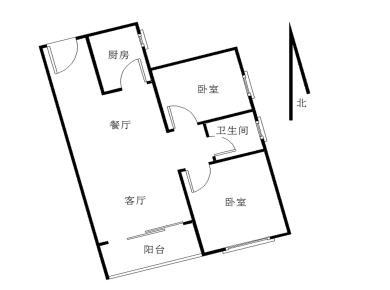 260万 海尔华玺欧式精装2房2厅1卫,新房未入住,采光好