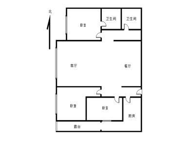 湖滨北路,中信广场,狐尾山下,高层电梯房,三房,生活方便