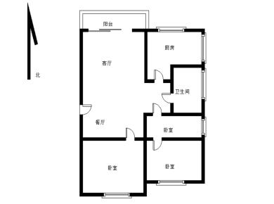 太微花园 正规三房南北双阳台