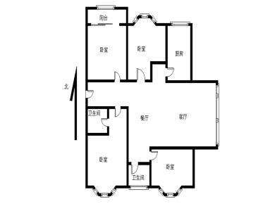 吕岭路 安溪大厦 欧式精装 南北4房 满2年 看房方便
