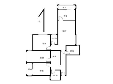 香江花园,四房两厅两卫,183平大平层,不限购