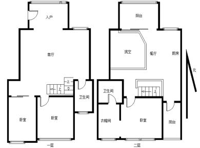 毗邻五缘湾 水晶森林 经典复式3房 客厅挑空