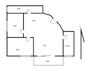 宁宝花园2房低楼层