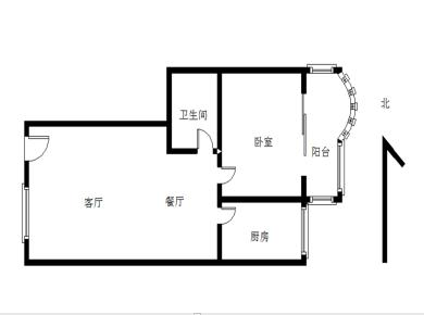 鑫阳公寓一房两厅可以改两房一厅南北通透