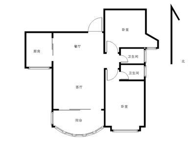 瑞景洪文 朝南电梯两房 精装拎包入住 外国语中学 莲前东