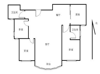 南楼高层看湖丨朝南大3房丨看房有锁丨蓝湾国际