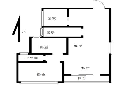 3室2厅1卫1厨1阳台