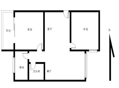 瑞景卧龙 金鸡亭 两房可改3房 通透全明户型3楼等于二楼