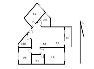 彩虹花园精装3房全明格局厅带阳台