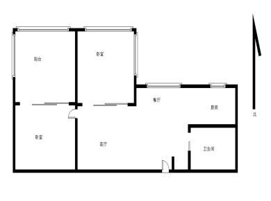 禹洲棕榈城1房1厅,人车分流,看中庭。安静