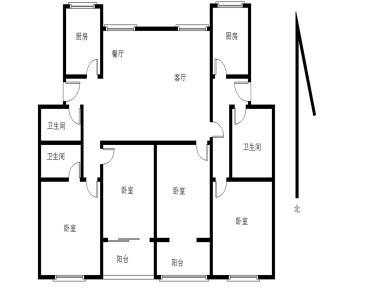湖明新村 两套打通共4房可单套出售 槟榔小学 框架 南北通透