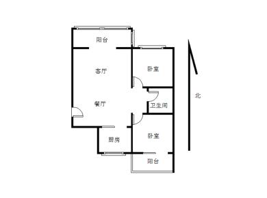 莲花五村龙山小区 2房2厅2阳台南北通透 送储物间5.88平