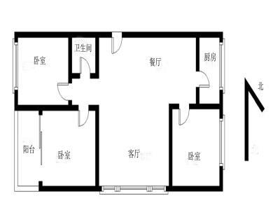 吕领综合楼 一梯两户 南北通透 全明格局 正规三房