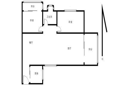 华天花园二期 大2房 可以改3房2卫 1号地铁莲花路口站点