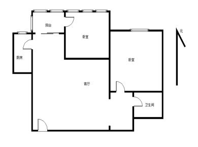 怡富花园3期 电梯2房 一梯四户 满五年业主居家装修