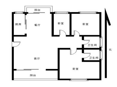 住宅莲花尚城 精装三房 楼下就有生鲜超市